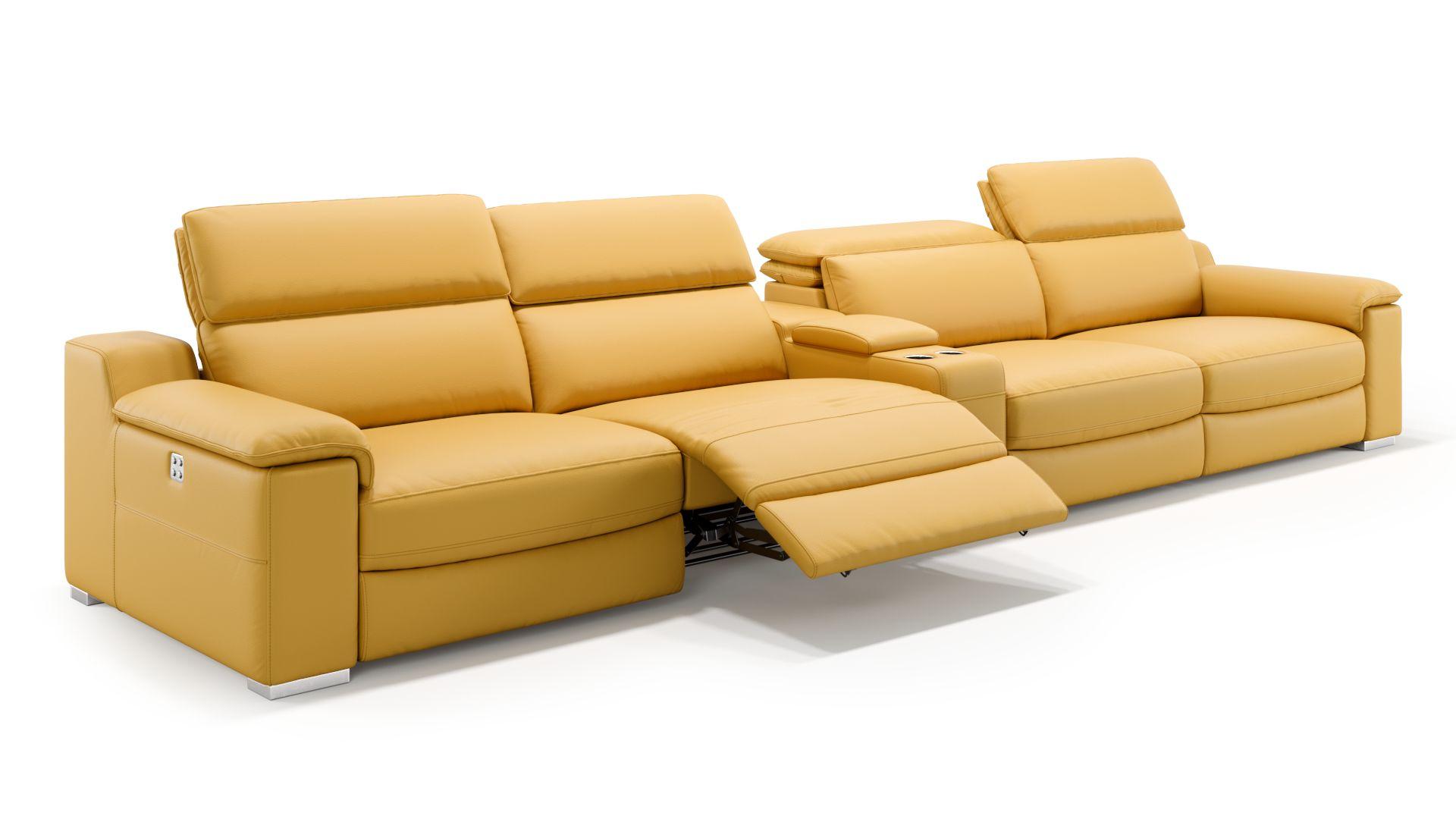 Leder 4-Sitzer Kinosofa mit einer Mittelkonsole MACELLO