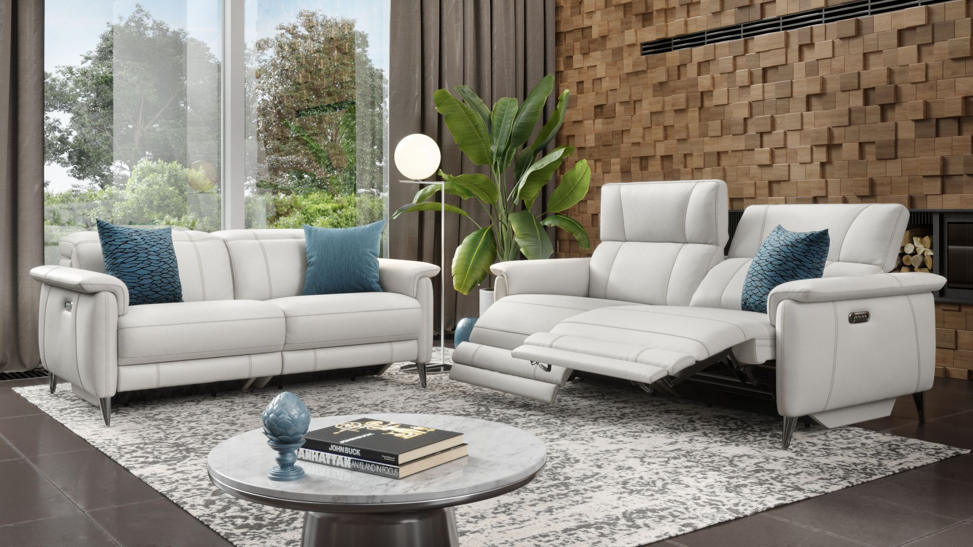 Leder 3-Sitzer Sofa BARLETTA