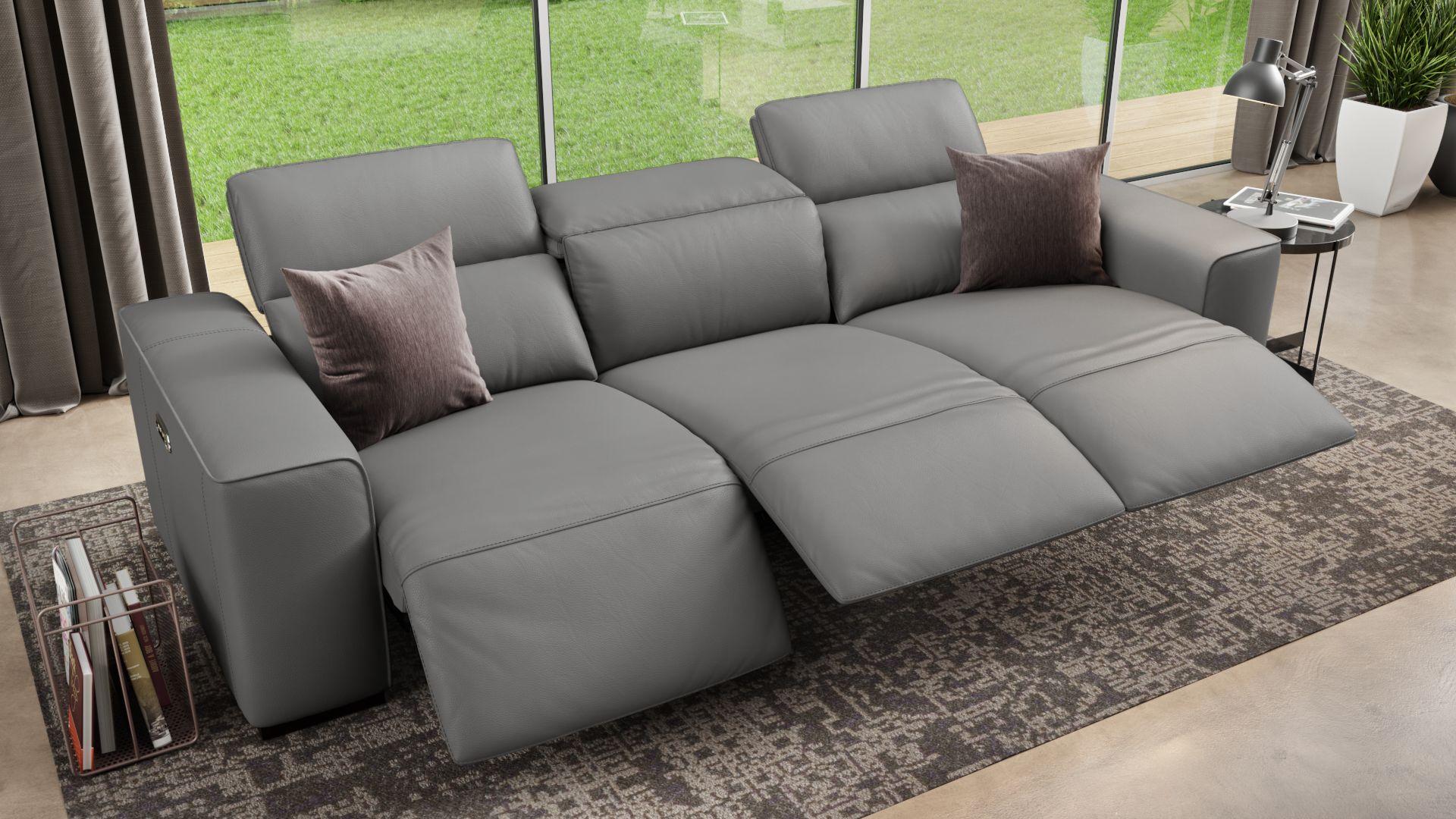 Leder 3-Sitzer Sofa XXL BINETTO