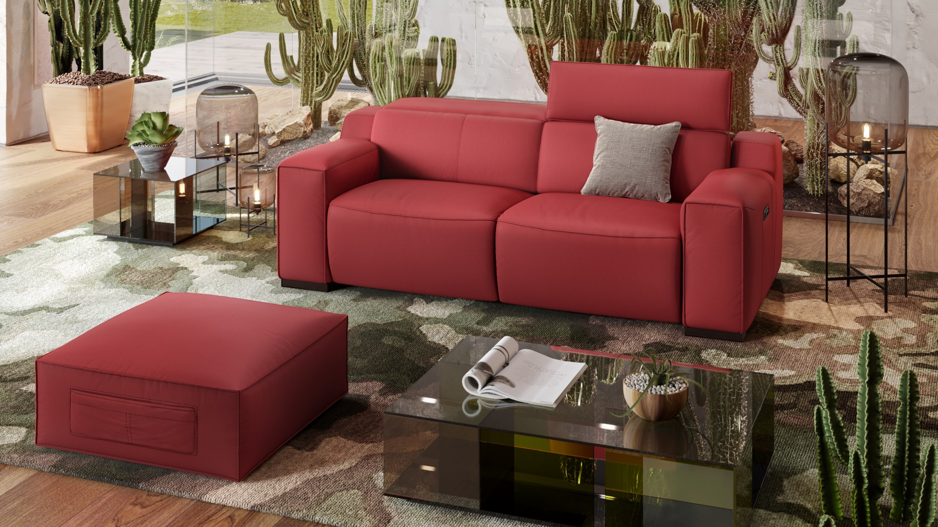 Leder 2-Sitzer Sofa LORETO