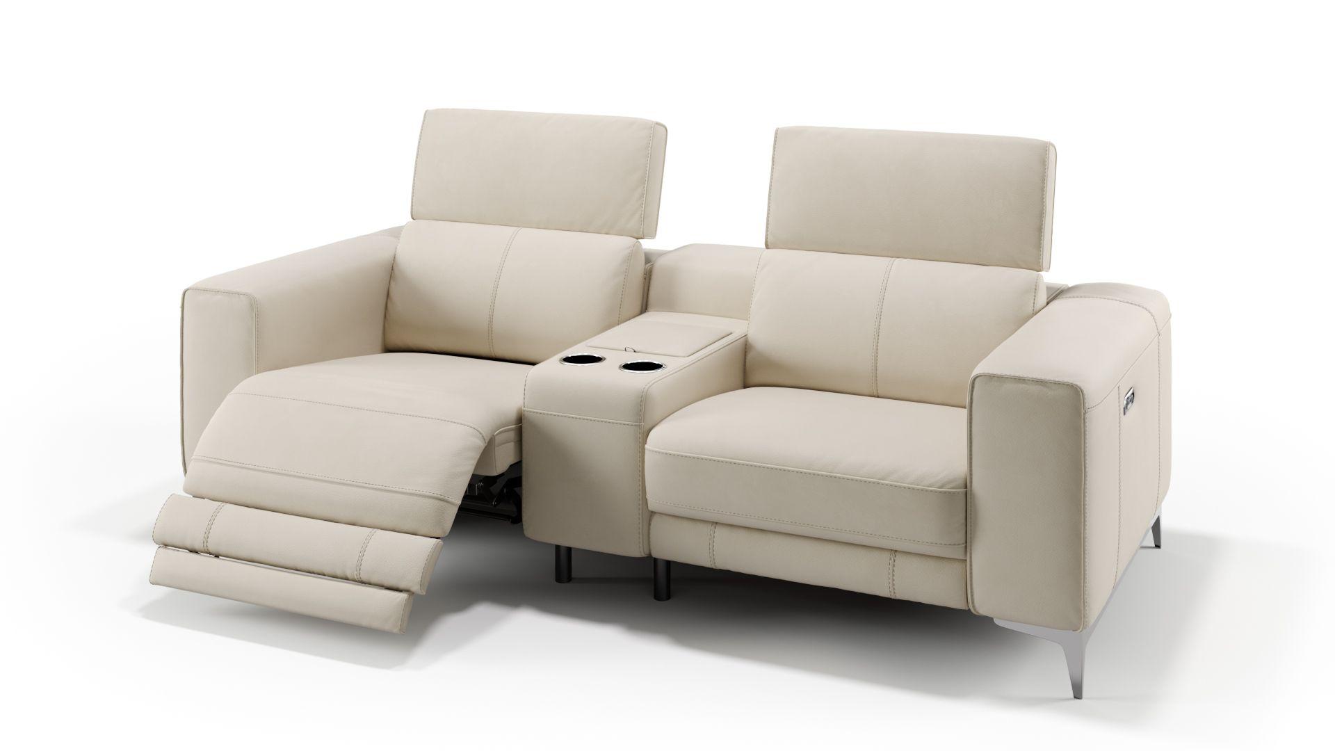 Leder 2-Sitzer Kinosofa + 2x 1-Sitzer CUPELLO