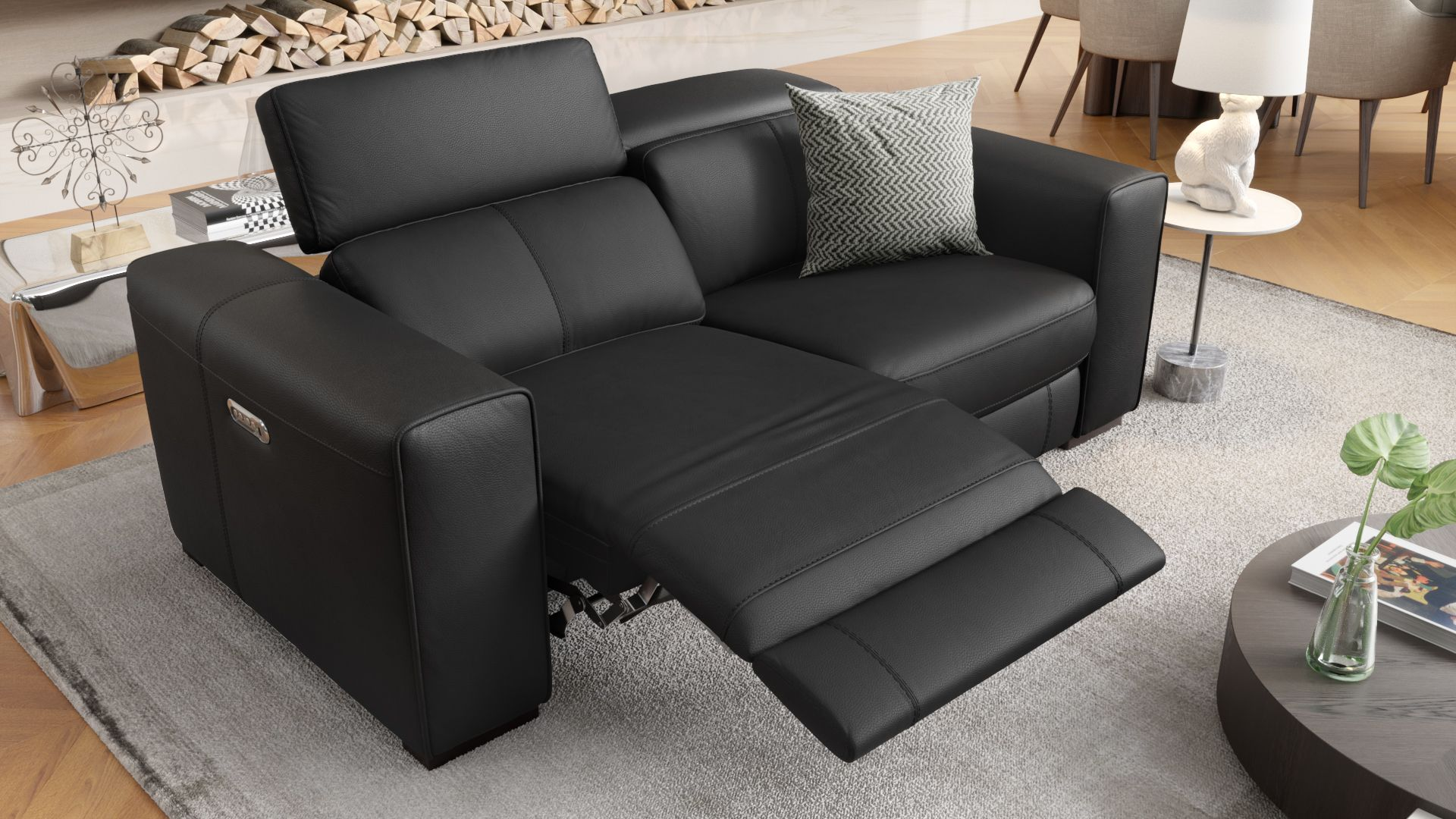 Leder 2-Sitzer Sofa BOVINO