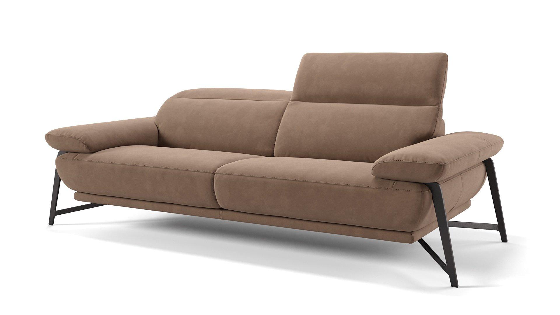 Stoff 3-Sitzer Sofa BIANCO