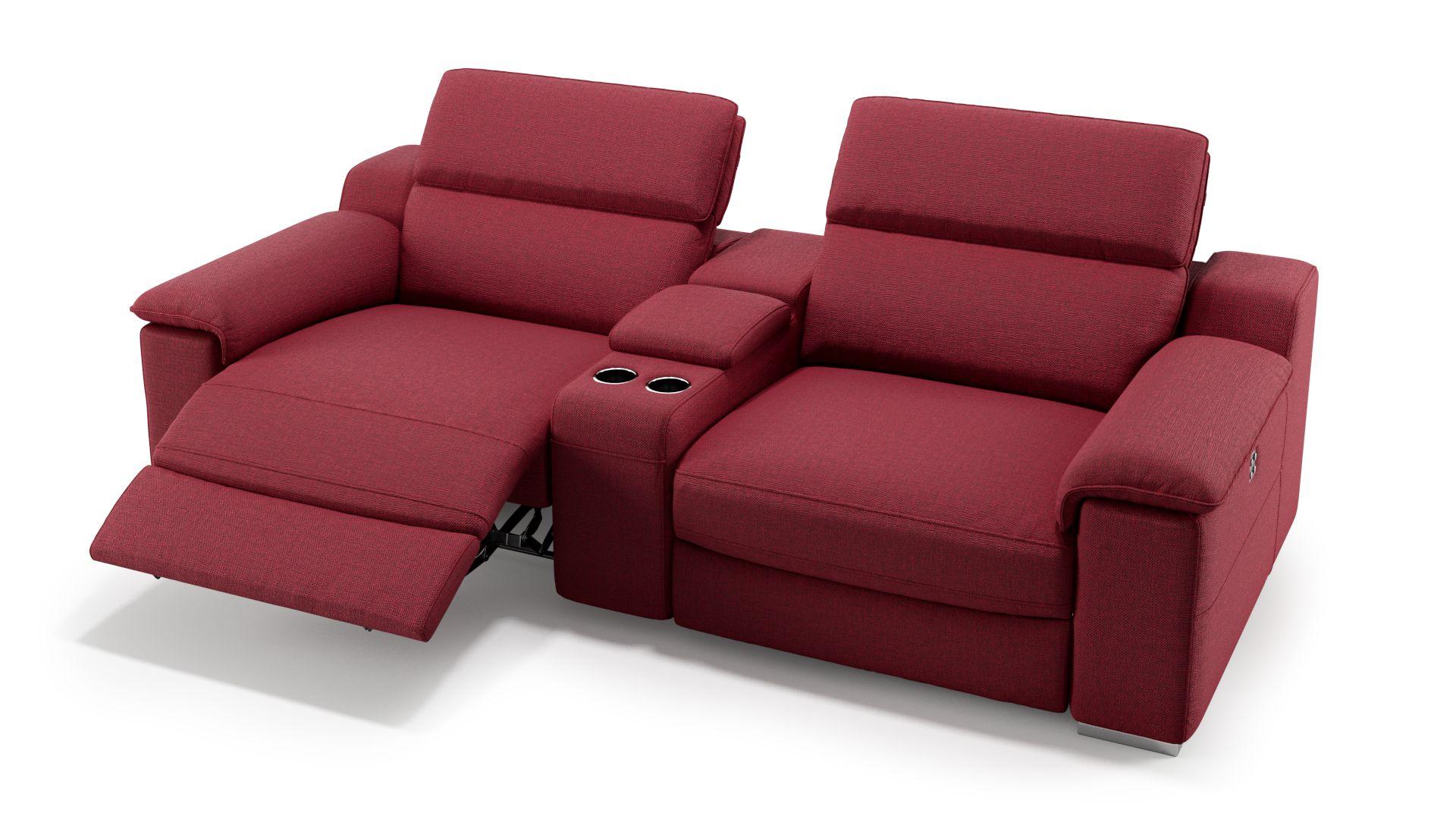 Stoff 2-Sitzer Kinosofa mit einer Mittelkonsole MACELLO