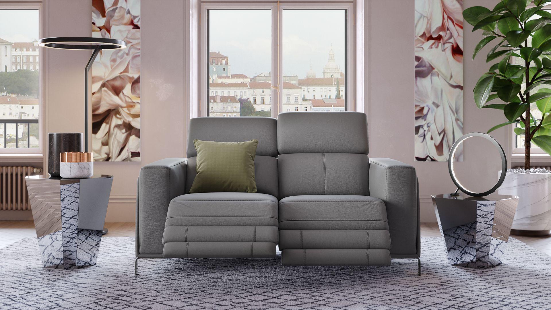 Leder 2-Sitzer Sofa CASOLI