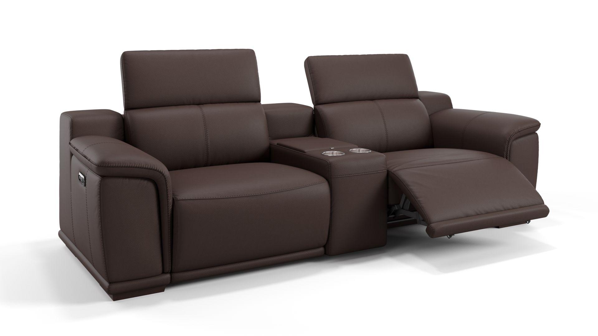 Leder 2-Sitzer Kinosofa mit einer Mittelkonsole MONTEFINO