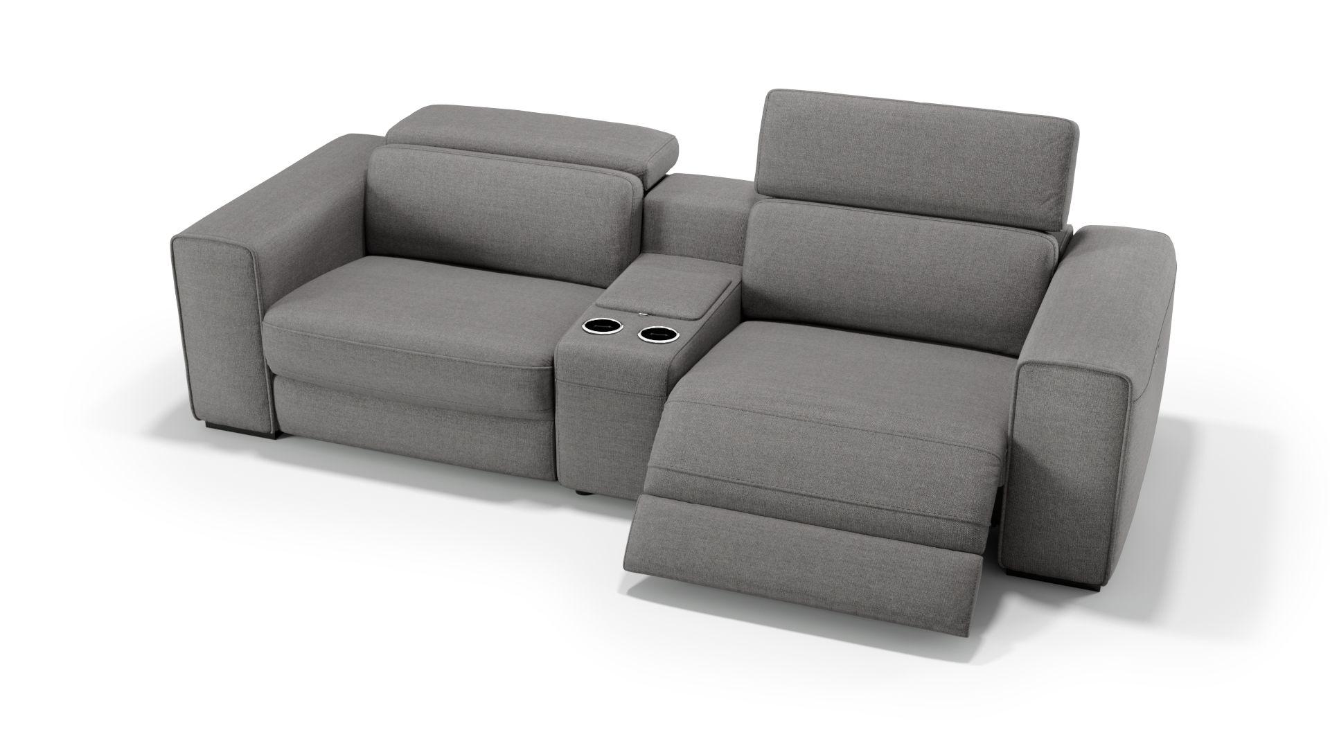 Stoff 2-Sitzer Kinosofa mit einer Mittelkonsole BOVINO