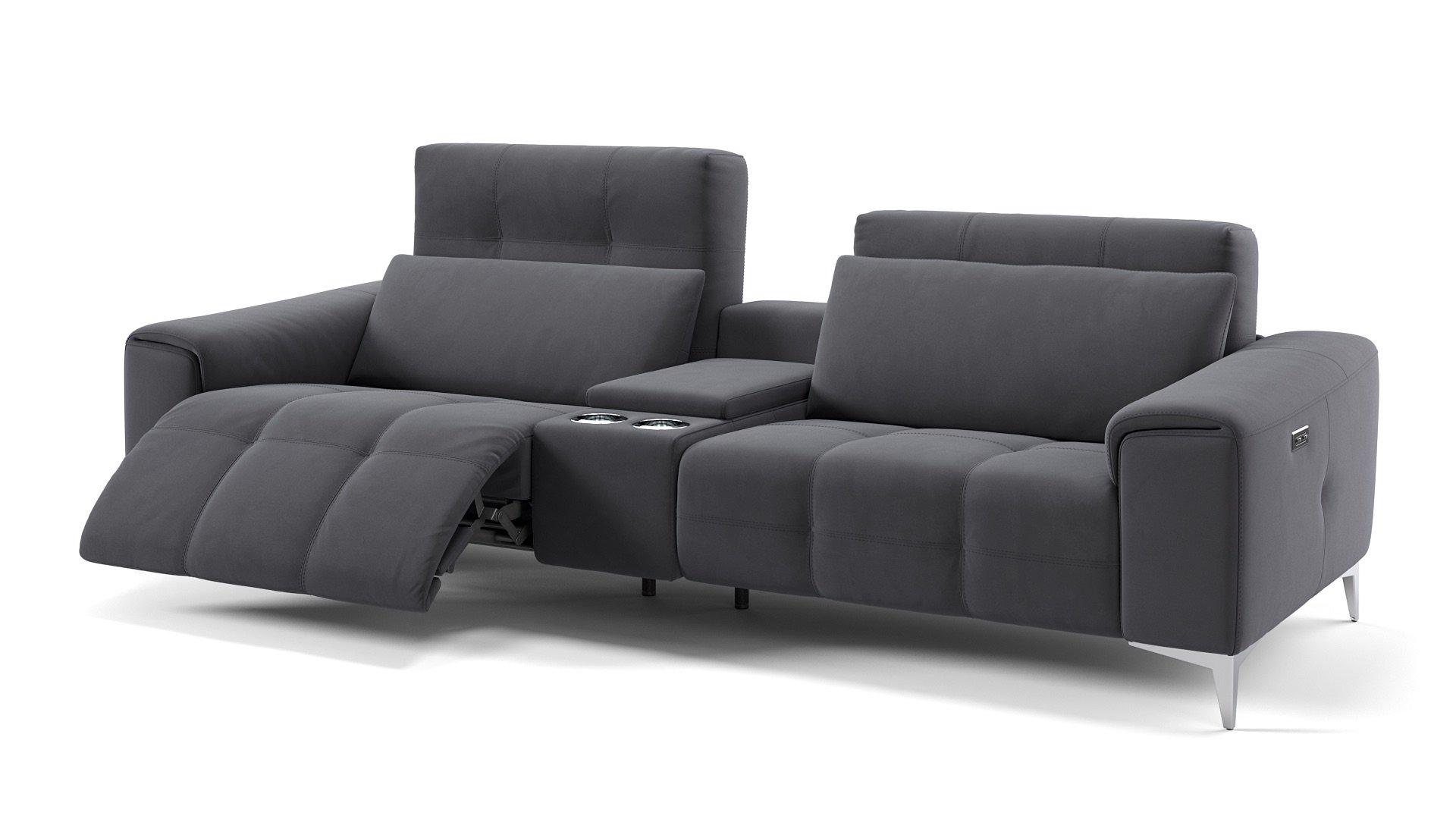 Stoff 2-Sitzer Kinosofa SALENTO