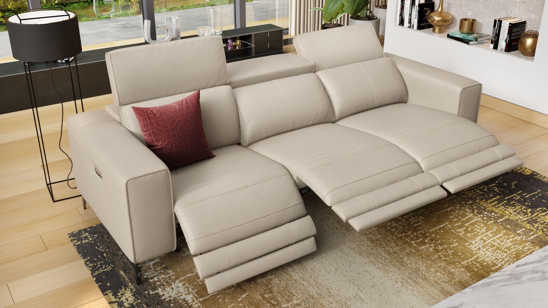 Leder 3-Sitzer Sofa XXL CUPELLO