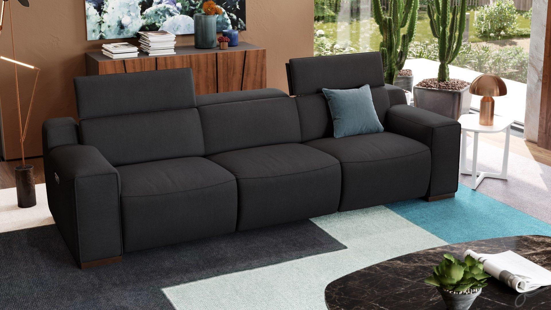 Stoff 3-Sitzer Sofa XXL LORETO