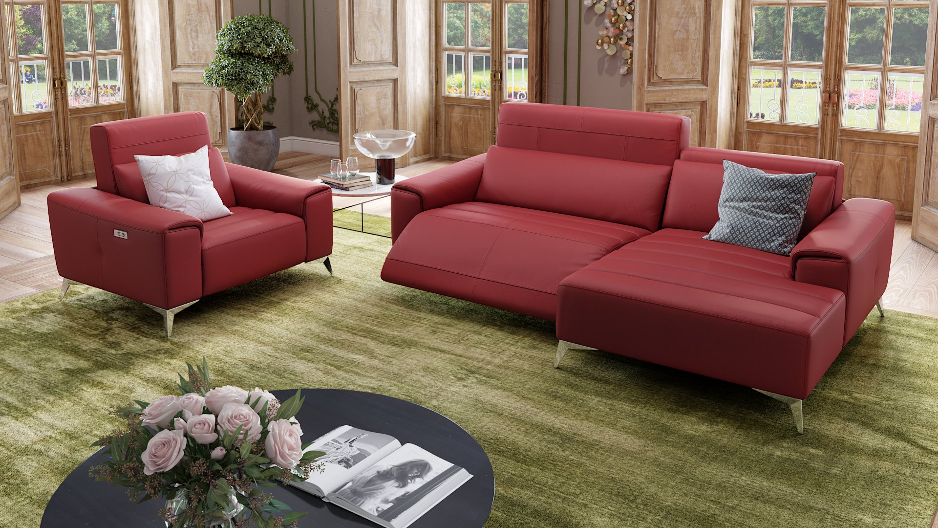 Leder Ecksofa Mini BELLA