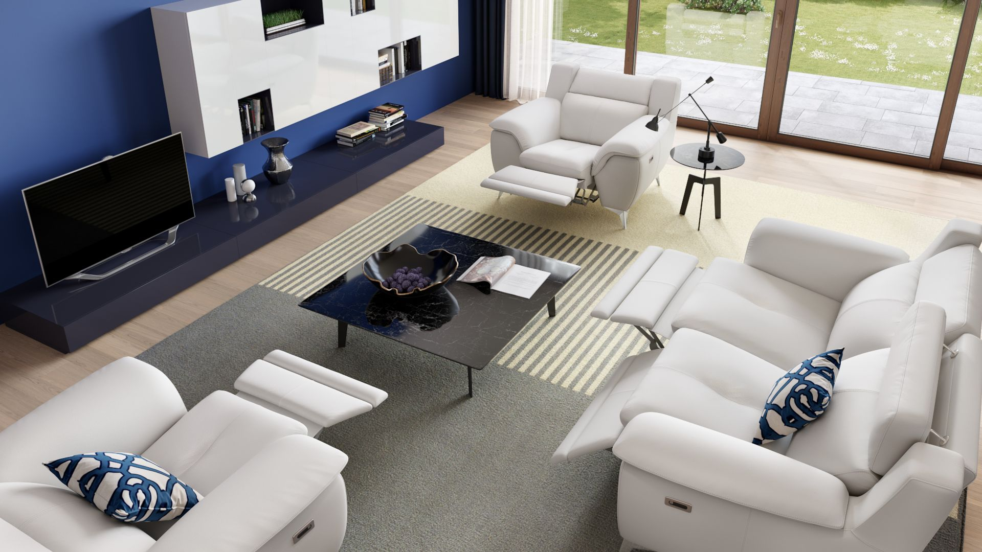 Leder 3-Sitzer Sofa AVERSA