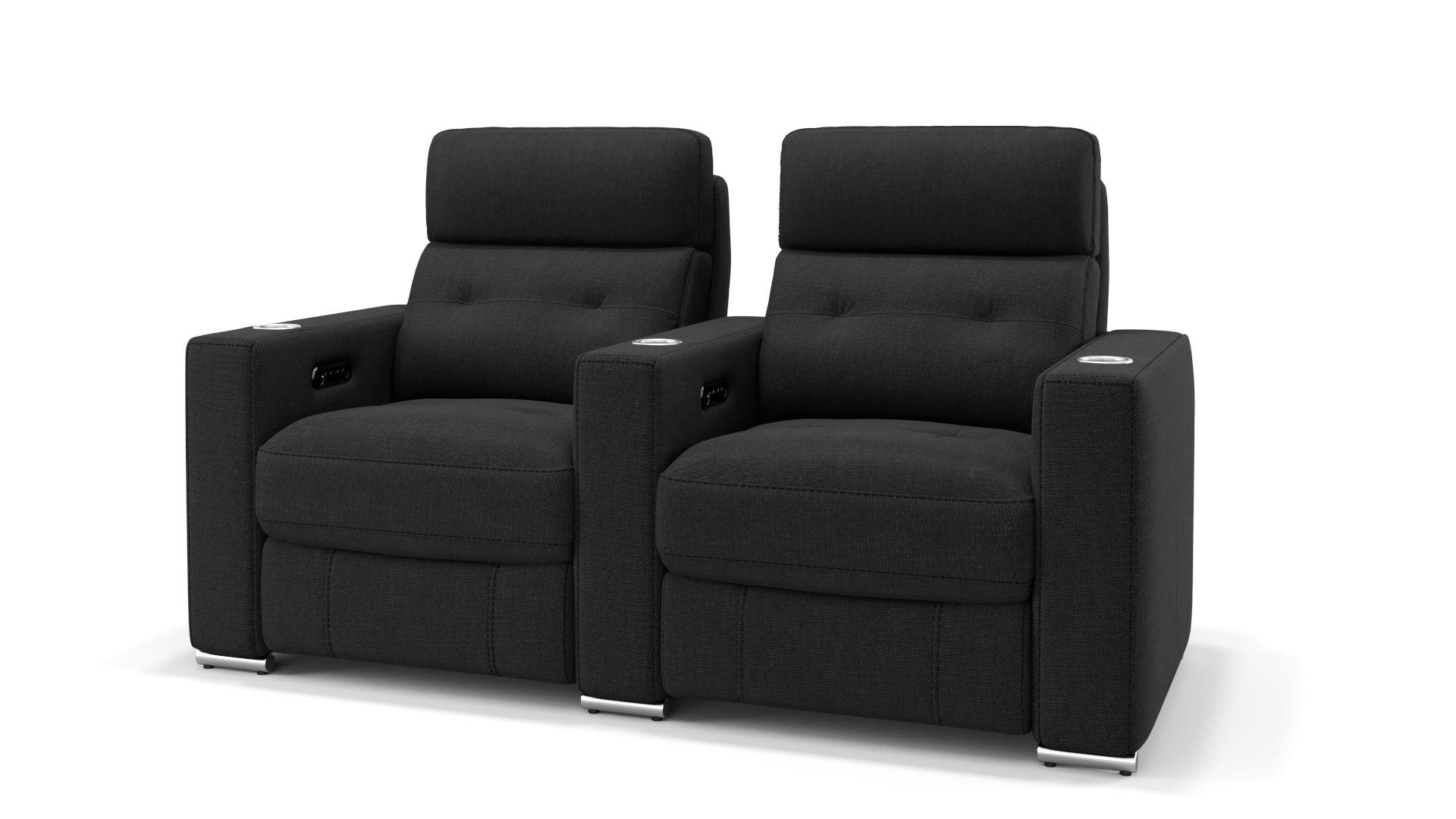 Stoff 2-Sitzer Kinosofa mit einer Mittelkonsole MATERA