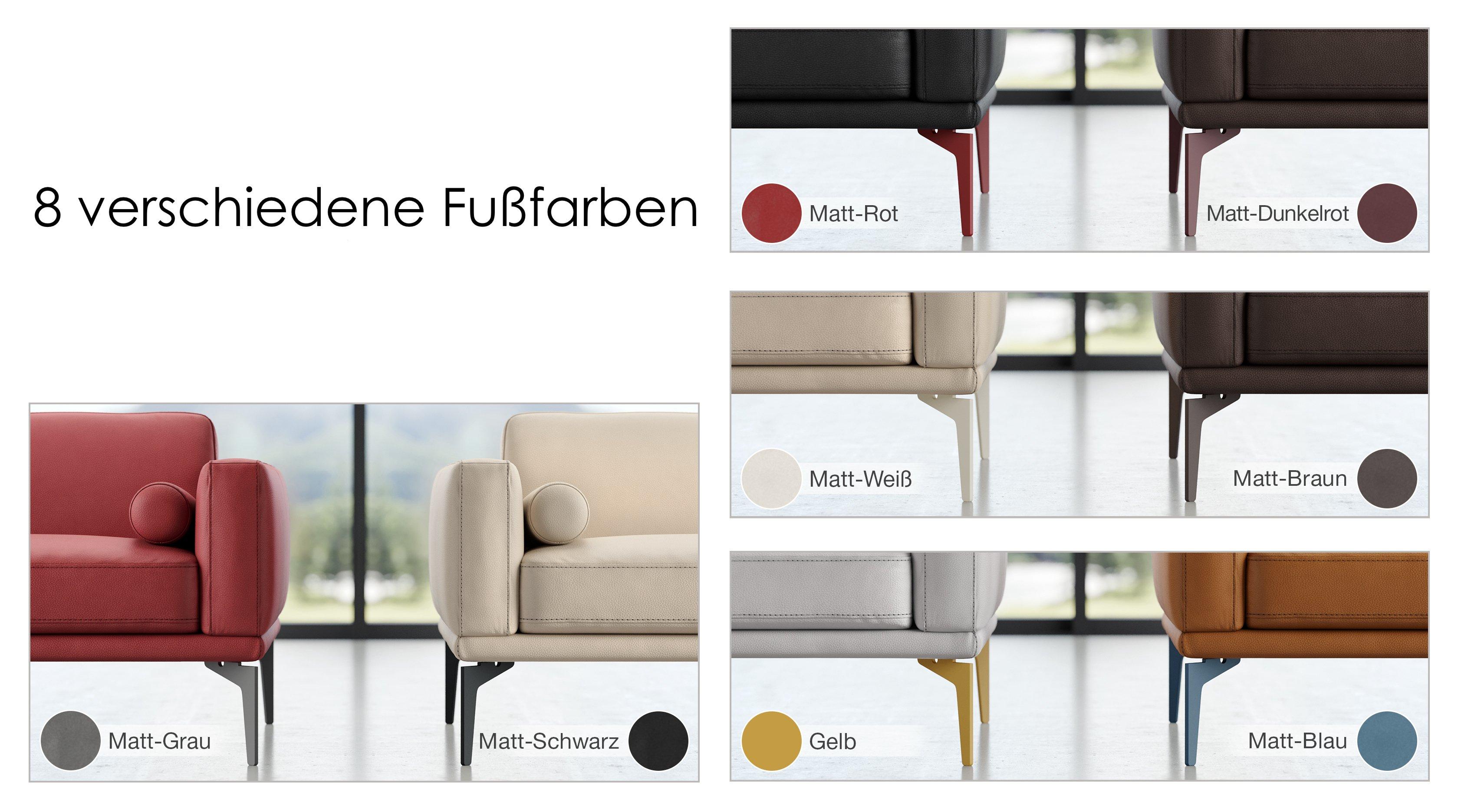 Leder 3-Sitzer Sofa SALERNO