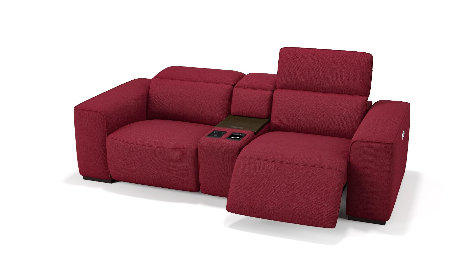 Stoff 2-Sitzer Kinosofa mit einer Mittelkonsole BINETTO