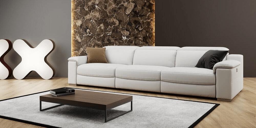3-Sitzer Couch weiß