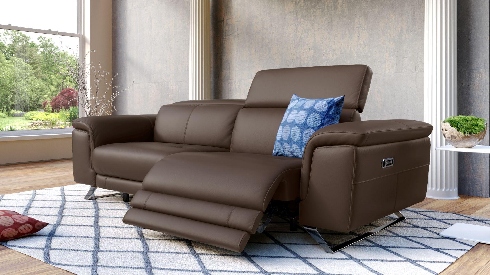 Leder 3-Sitzer Sofa SERRI