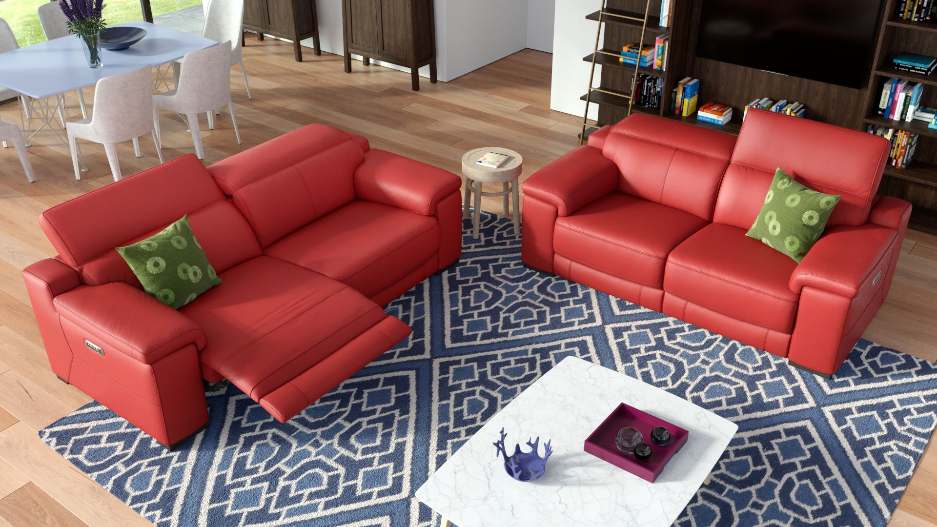 Leder 3-Sitzer Sofa SORA