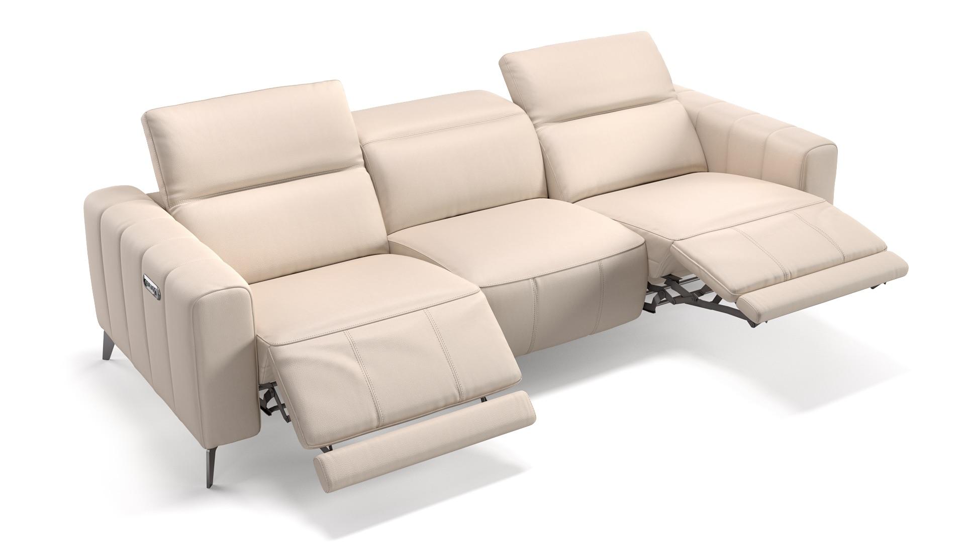 Leder 3-Sitzer XXL PALERMO