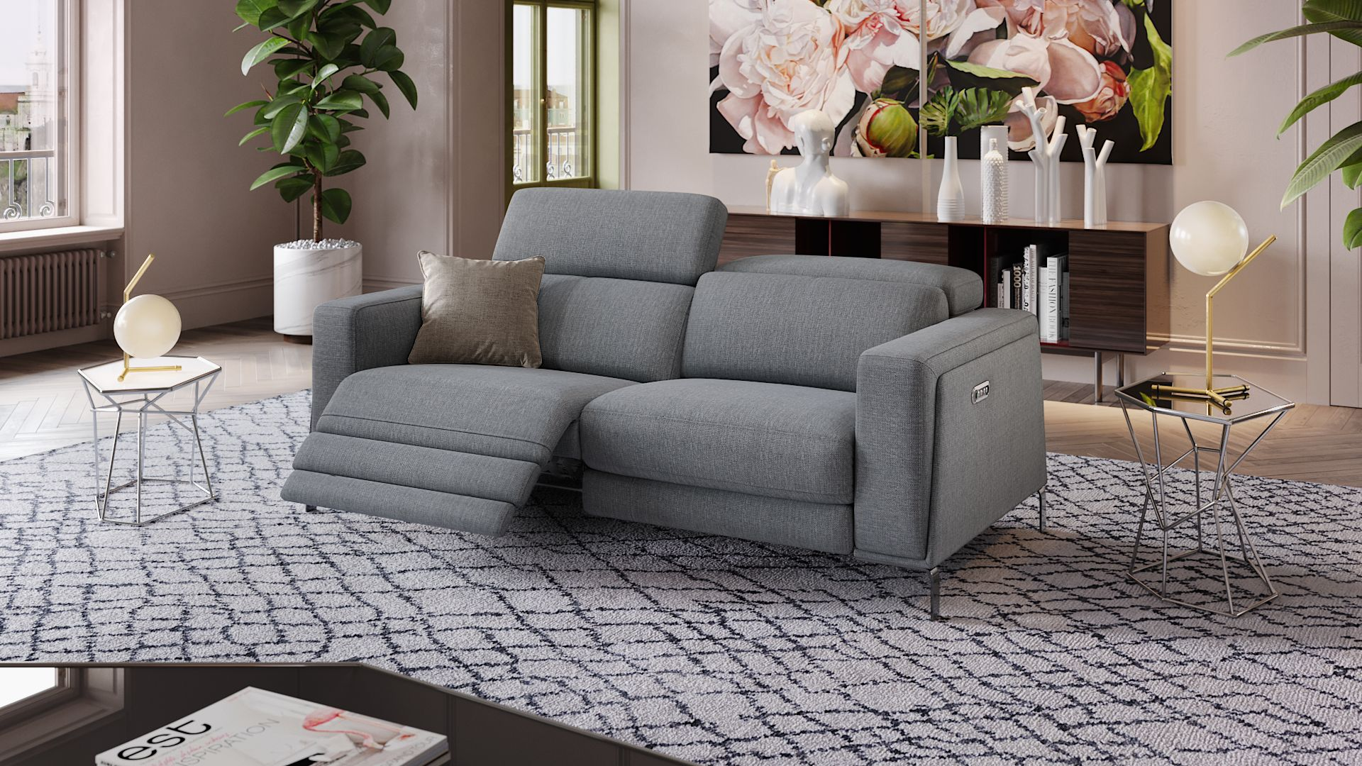 Stoff 3-Sitzer Sofa CASOLI