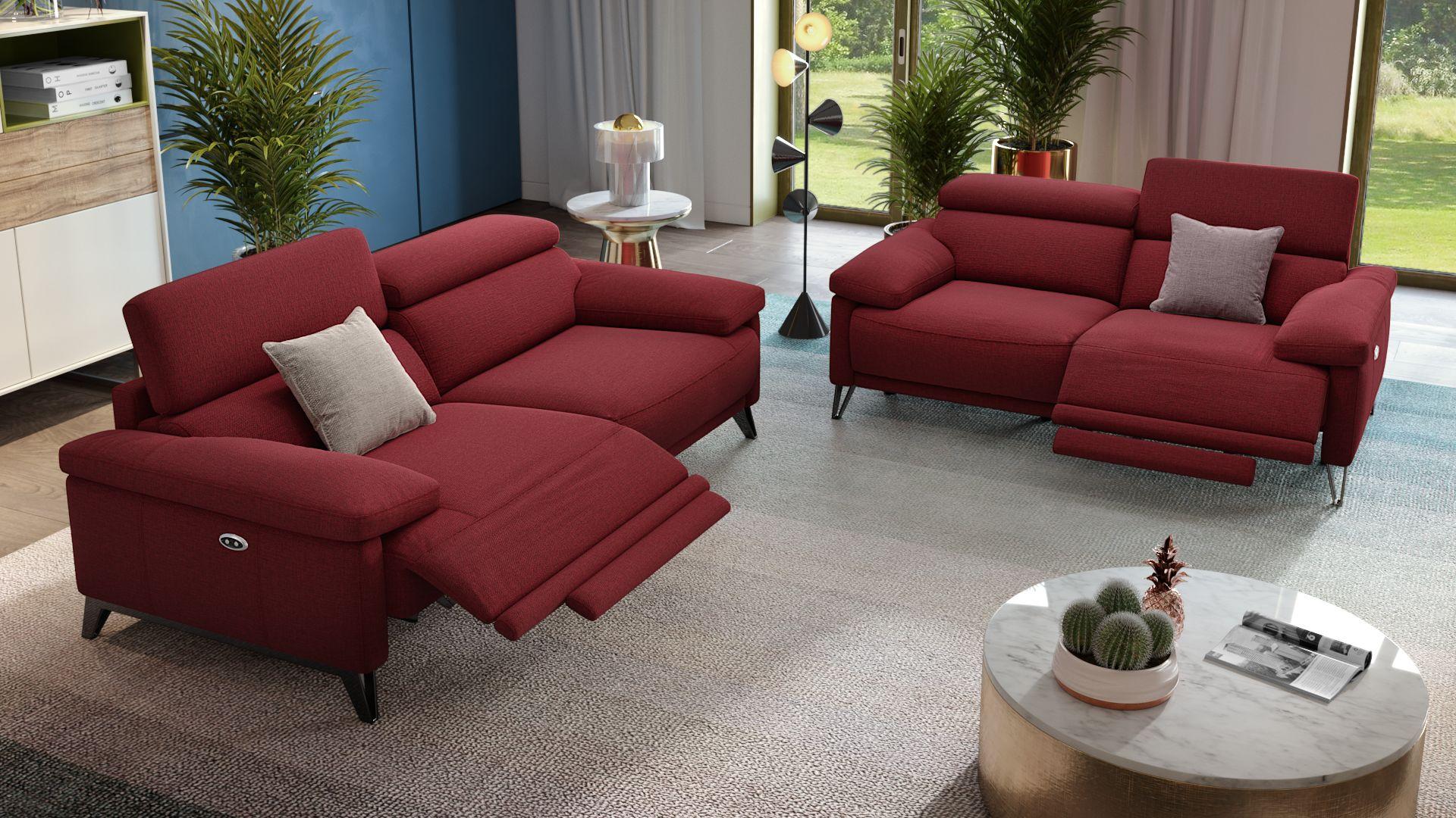 Stoff 3-Sitzer Sofa CELANO