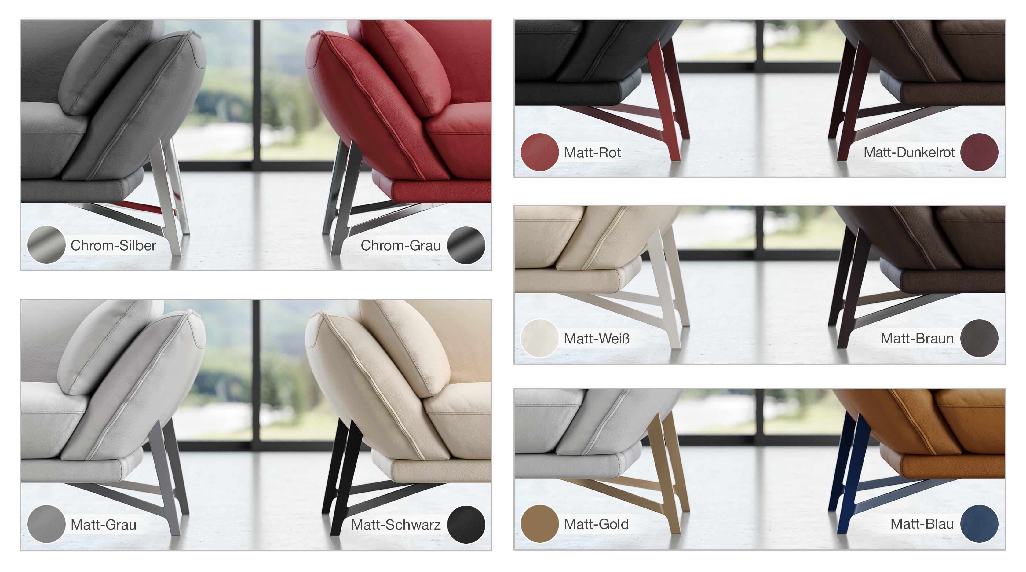 Stoff 3-Sitzer Sofa ESTELLA