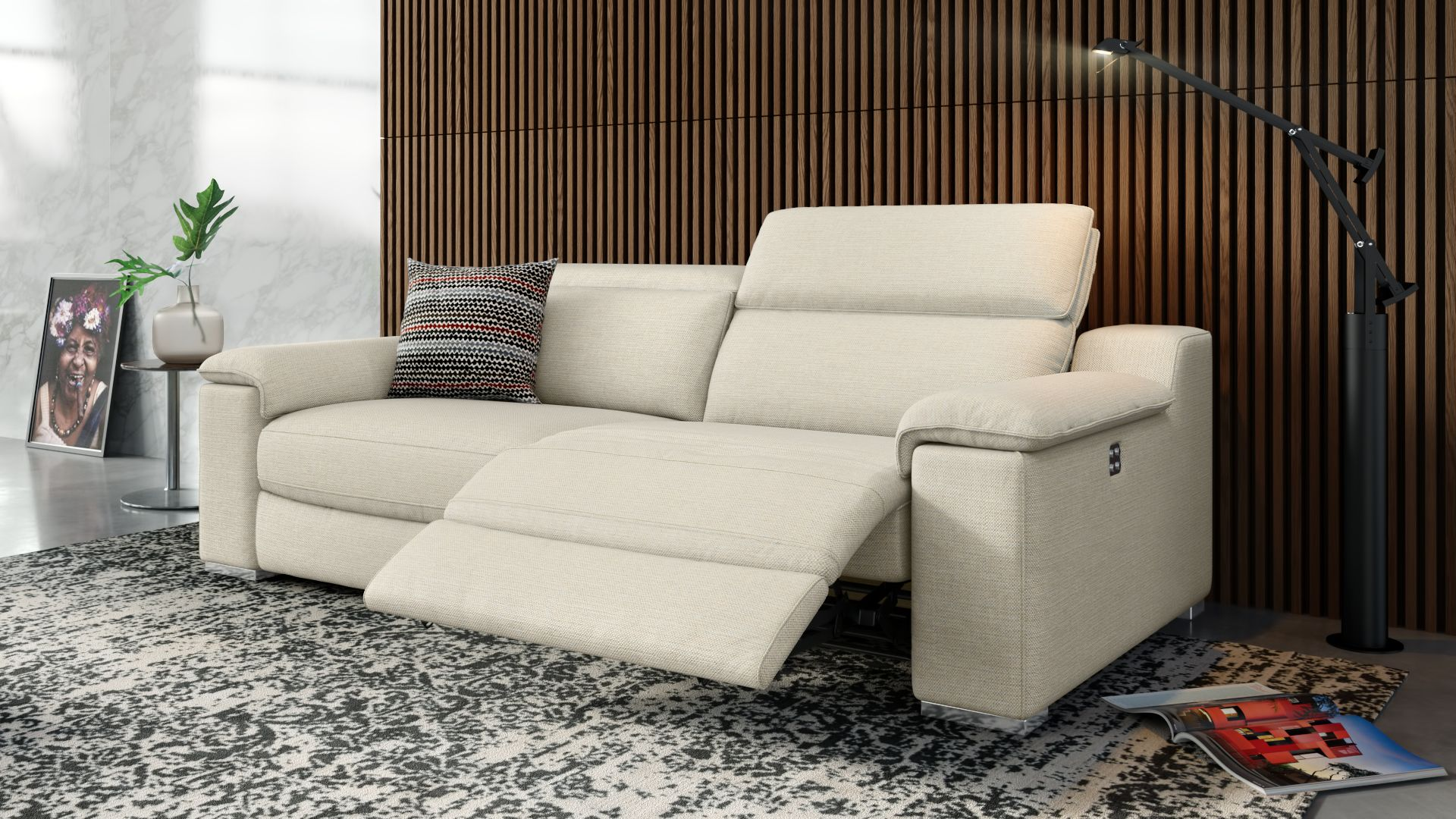 Stoff 3-Sitzer Sofa MACELLO