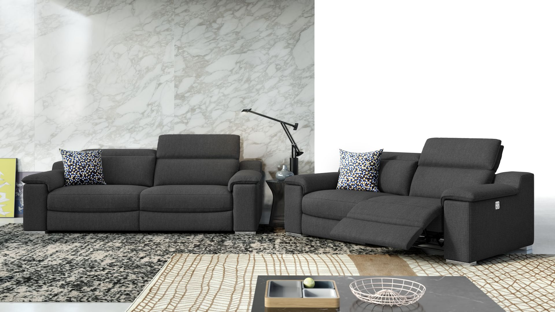 Stoff 2-Sitzer Sofa MACELLO