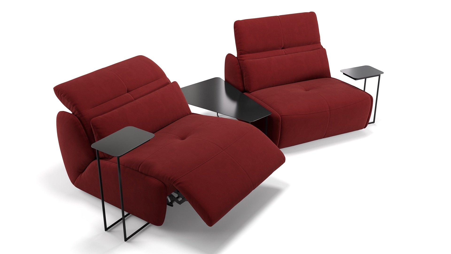 Stoff 2-Sitzer mit Tischen MODICA