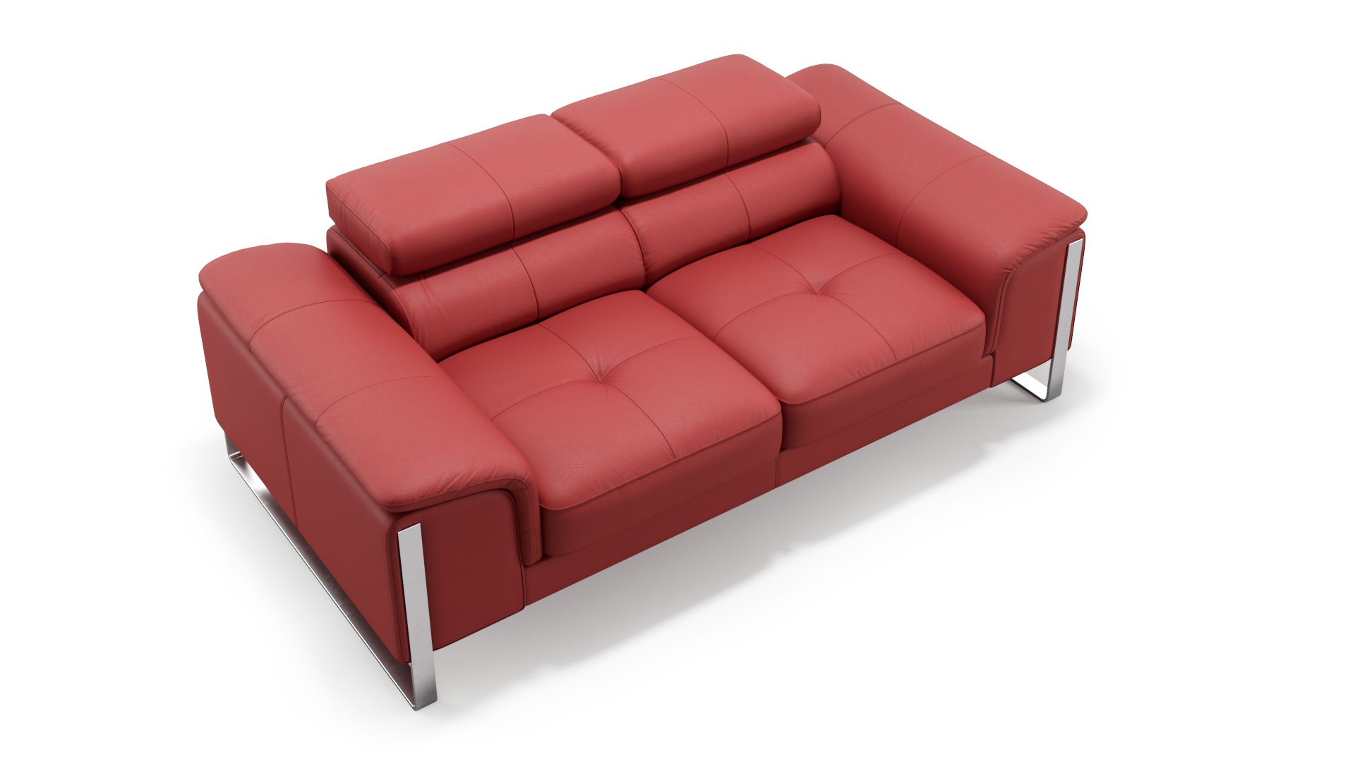 Leder 2-Sitzer Sofa PIZZOLI