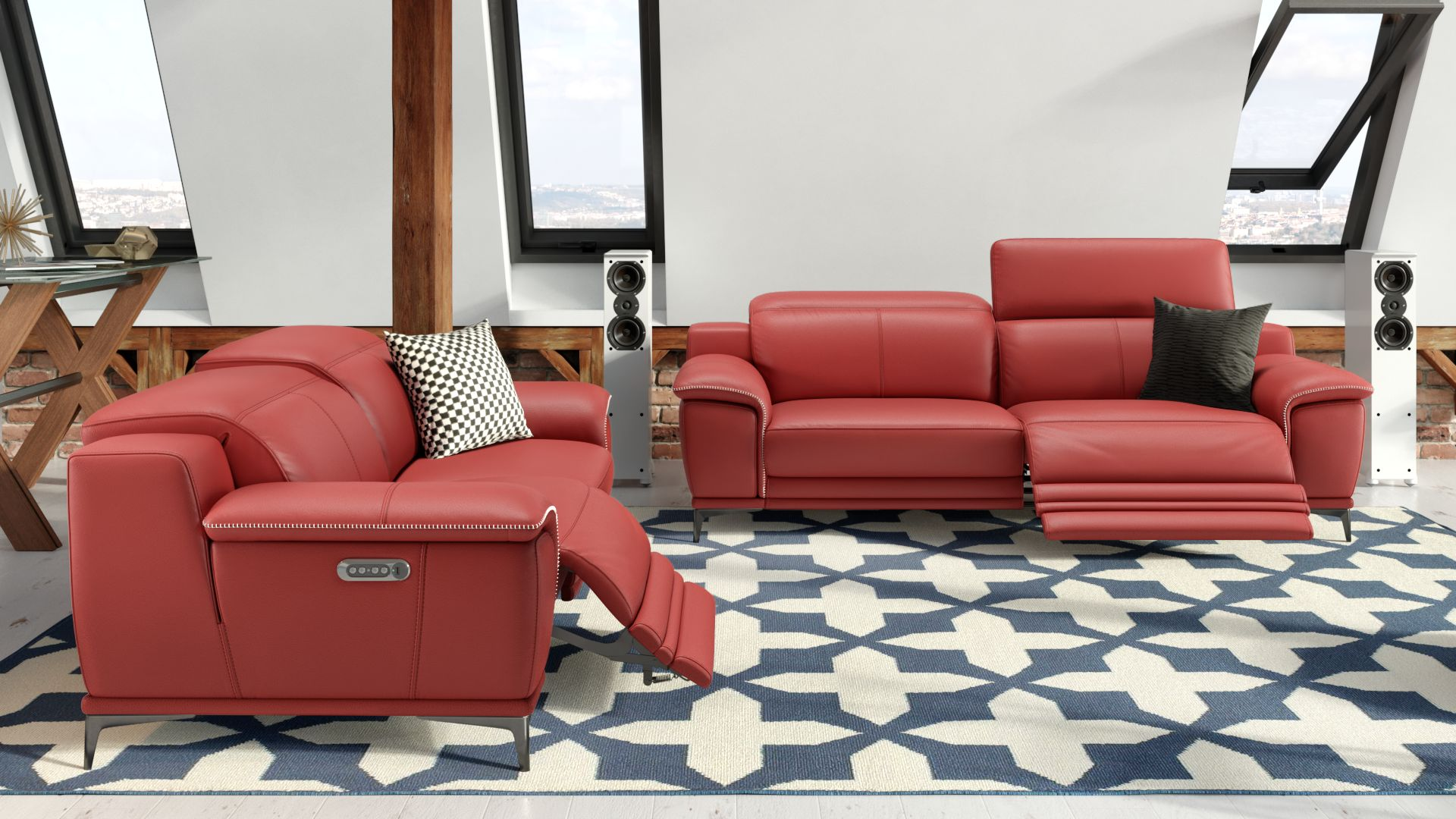 Leder 3-Sitzer Sofa NOVOLI