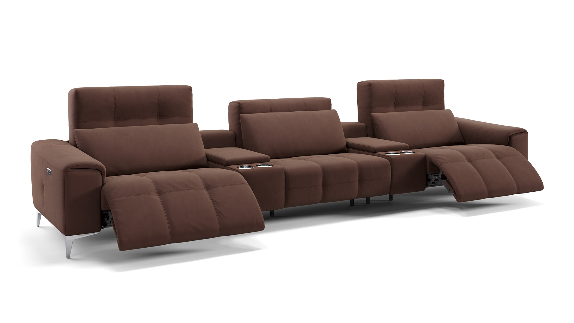 Stoff 3-Sitzer Kinosofa SALENTO