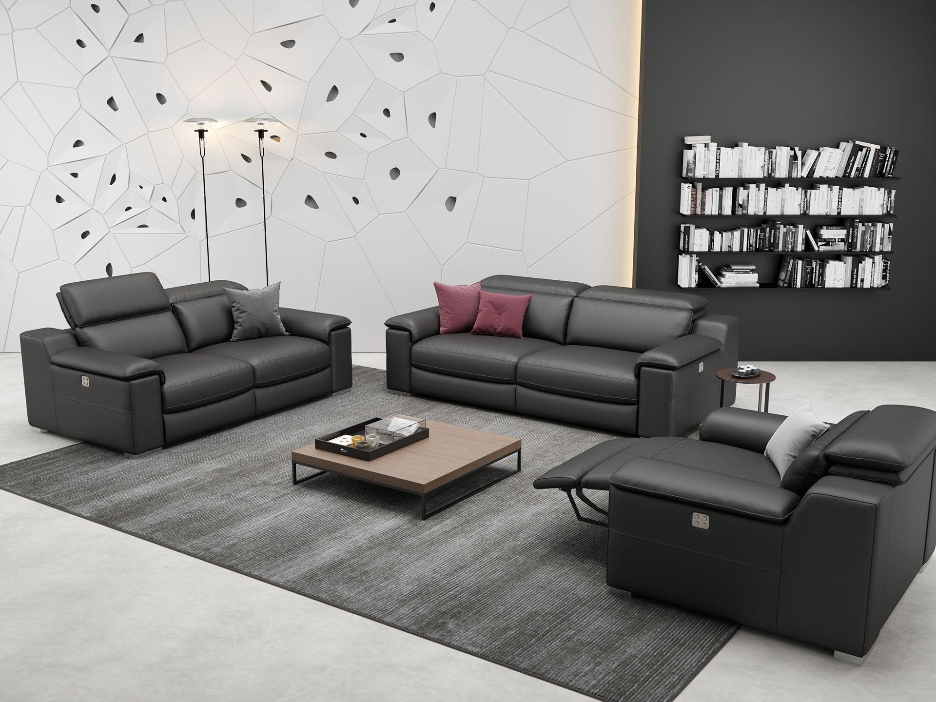 Leder 3-Sitzer Sofa MACELLO