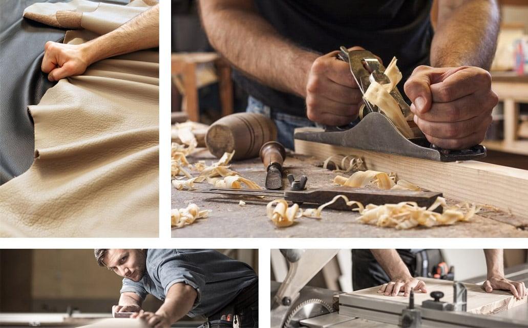 Collage von Herstellungsschritten