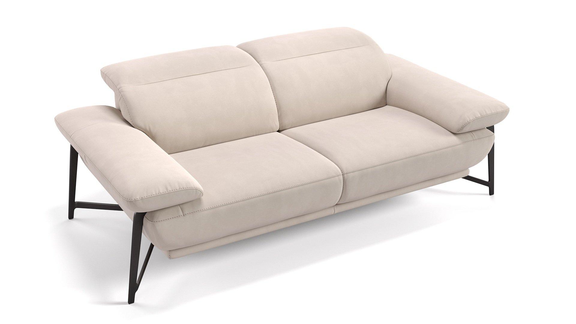 Stoff 2-Sitzer Sofa BIANCO