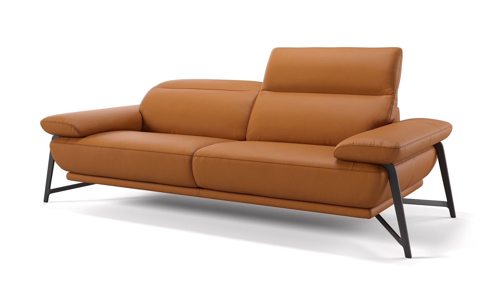 Leder 3-Sitzer Sofa BIANCO