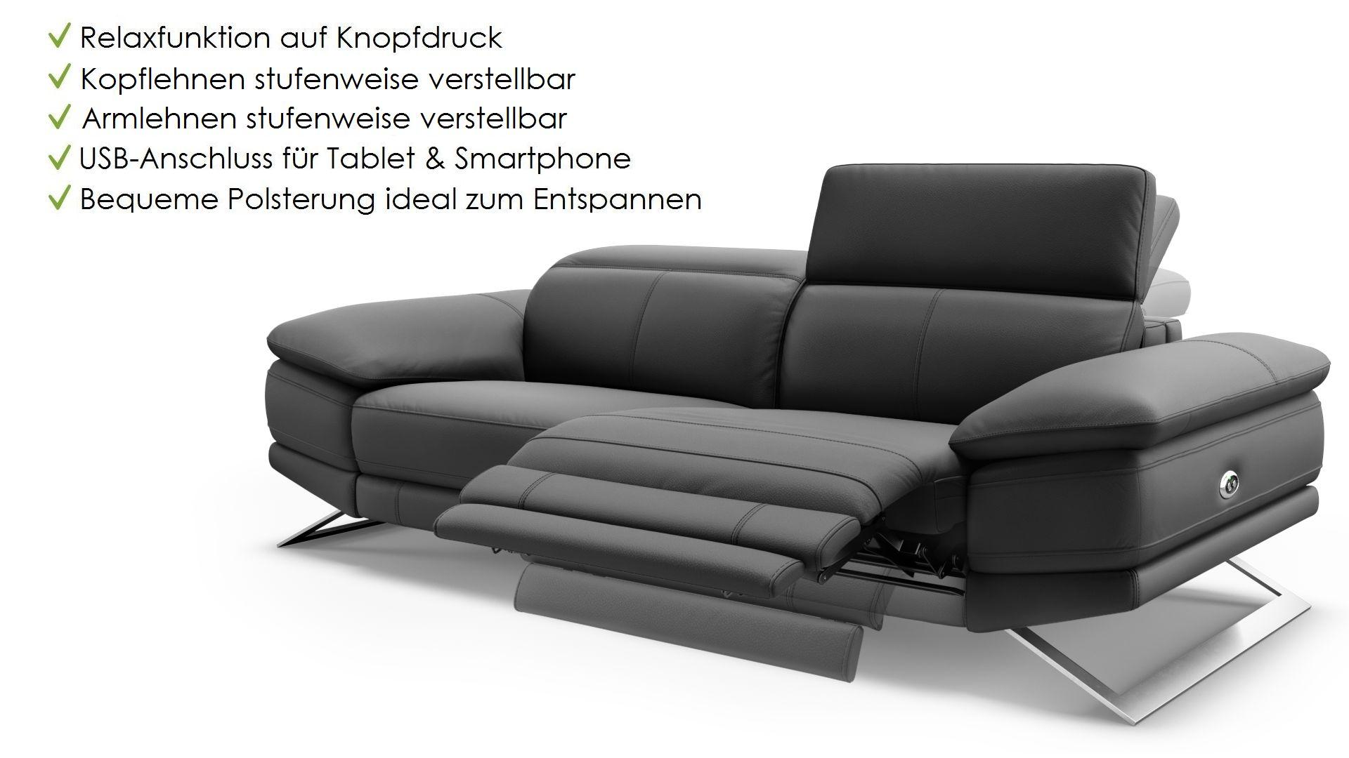 Leder 3-Sitzer Sofa FERRARA