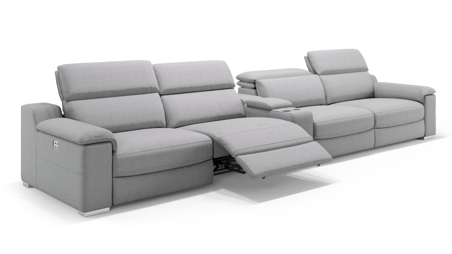 Stoff 4-Sitzer Kinosofa mit einer Mittelkonsole MACELLO