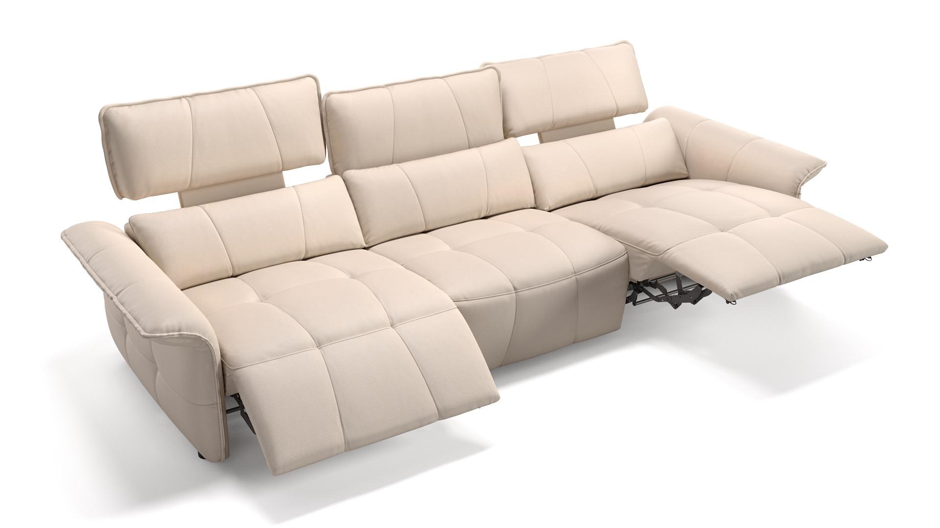 Leder 3-Sitzer XXL ADRIA