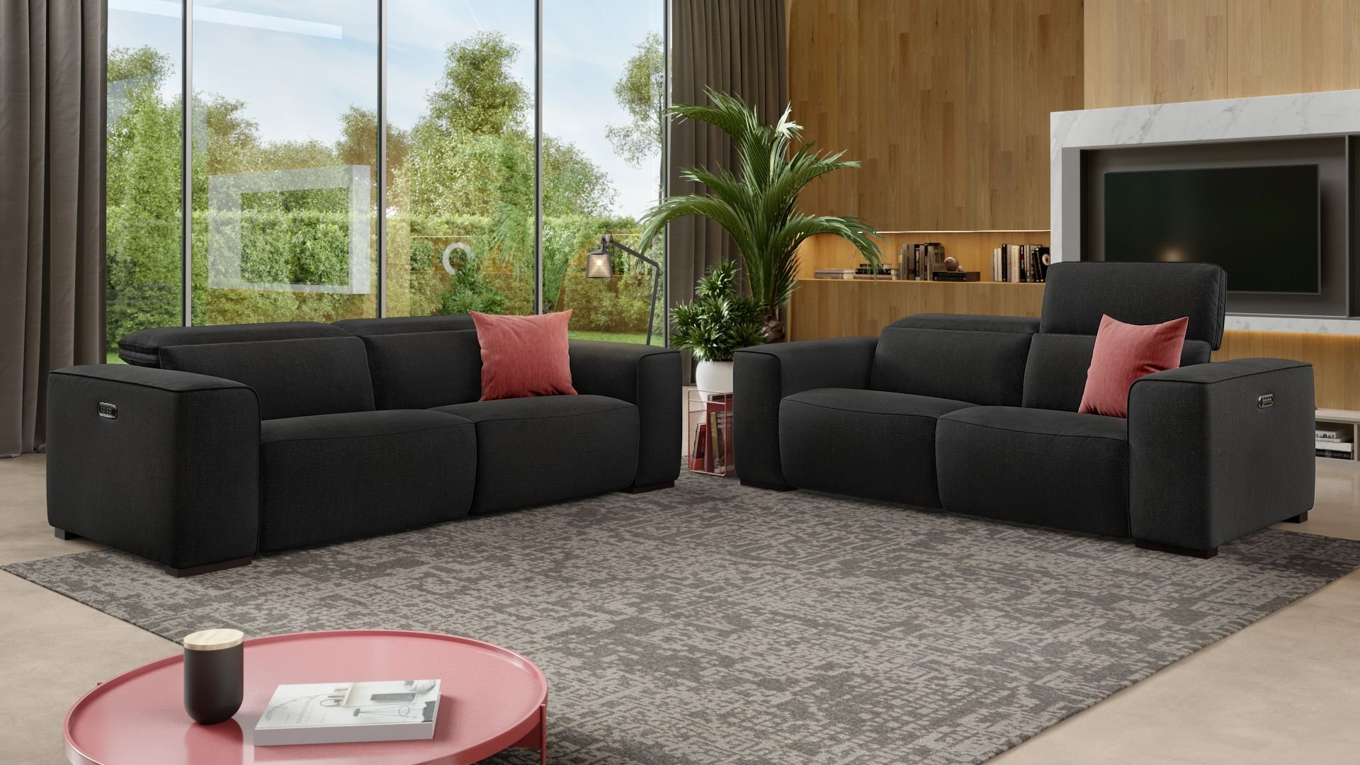 Stoff 2-Sitzer Sofa BINETTO