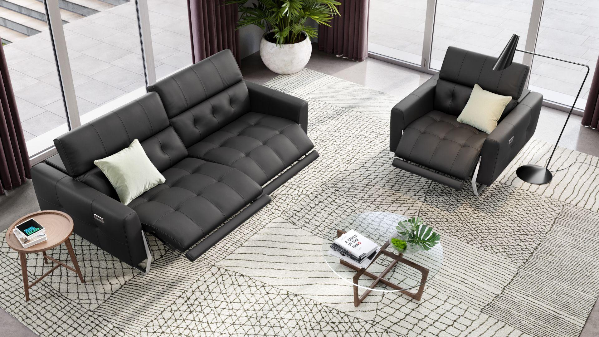 Leder 2-Sitzer Sofa CANEVA