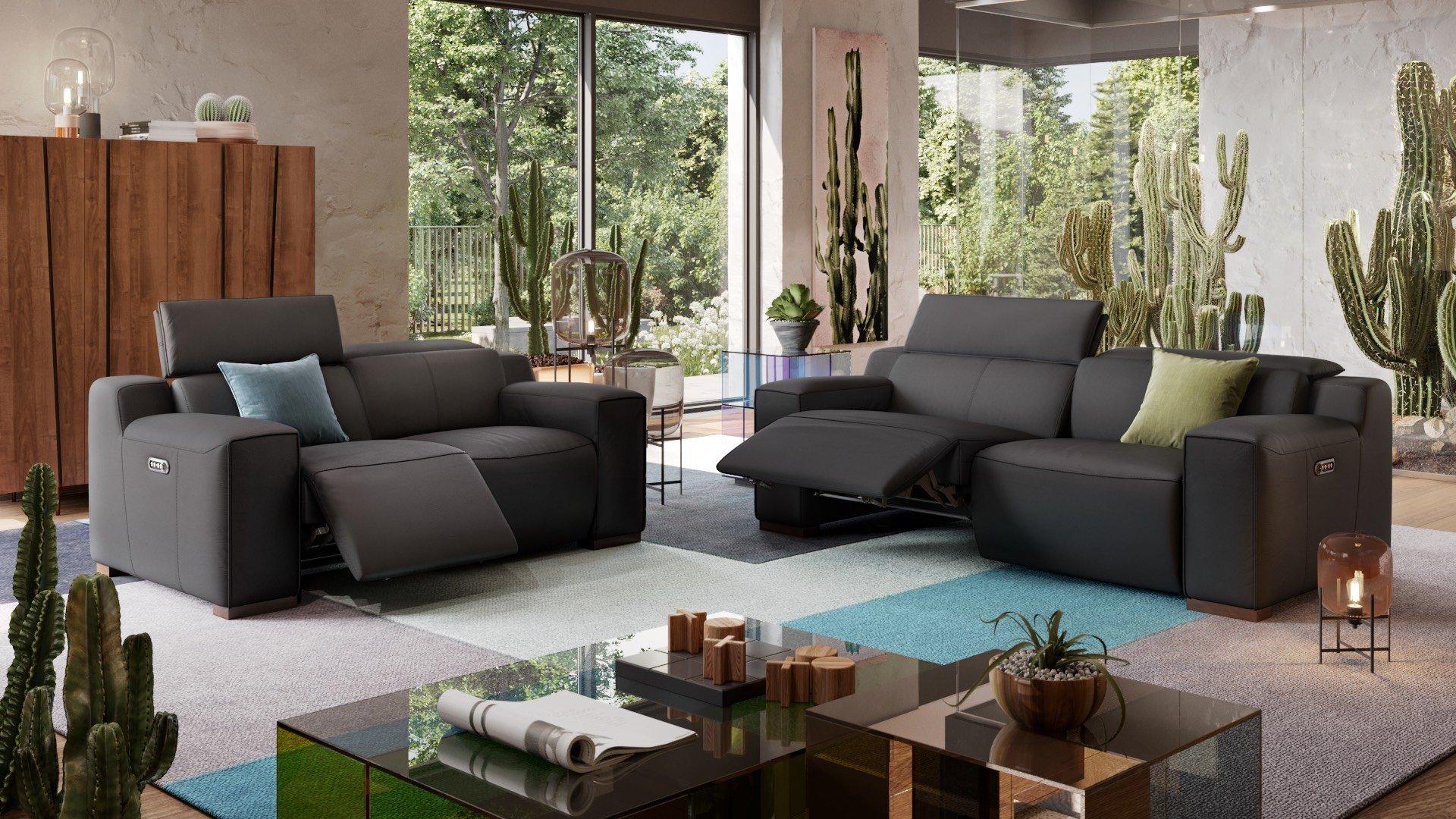 Leder 3-Sitzer Sofa LORETO