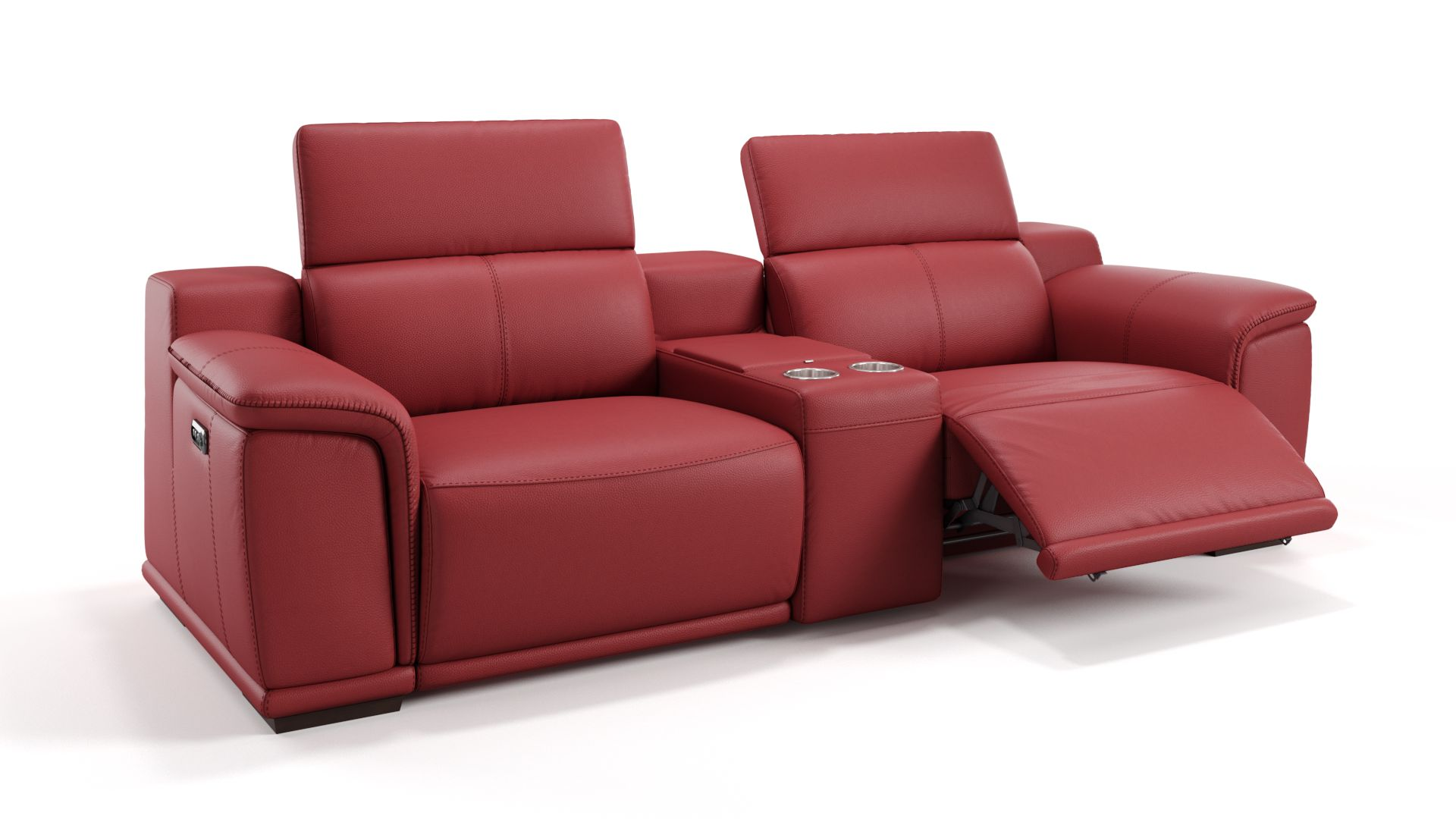 Leder 2-Sitzer mit Mittelkonsole MONTEFINO