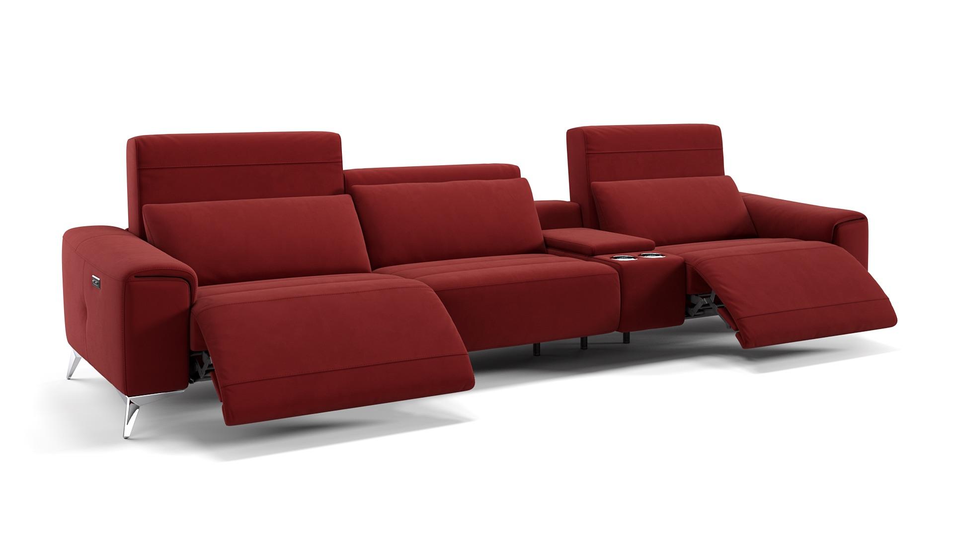 Stoff 3-Sitzer Kinosofa BELLA