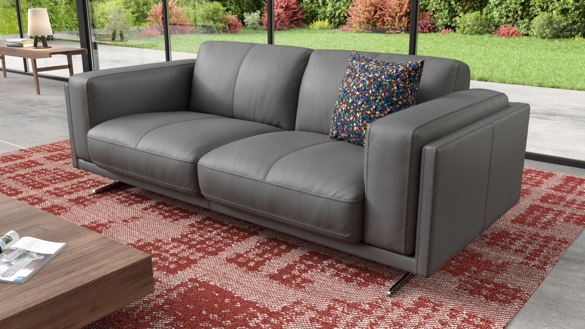 Leder 2-Sitzer Sofa BELLANTE