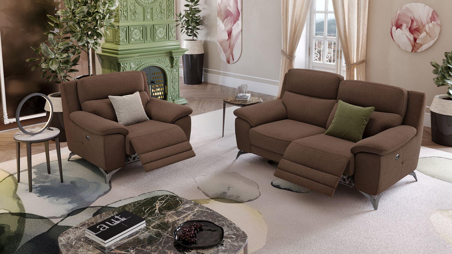 Stoff 2-Sitzer Sofa LANTELLA