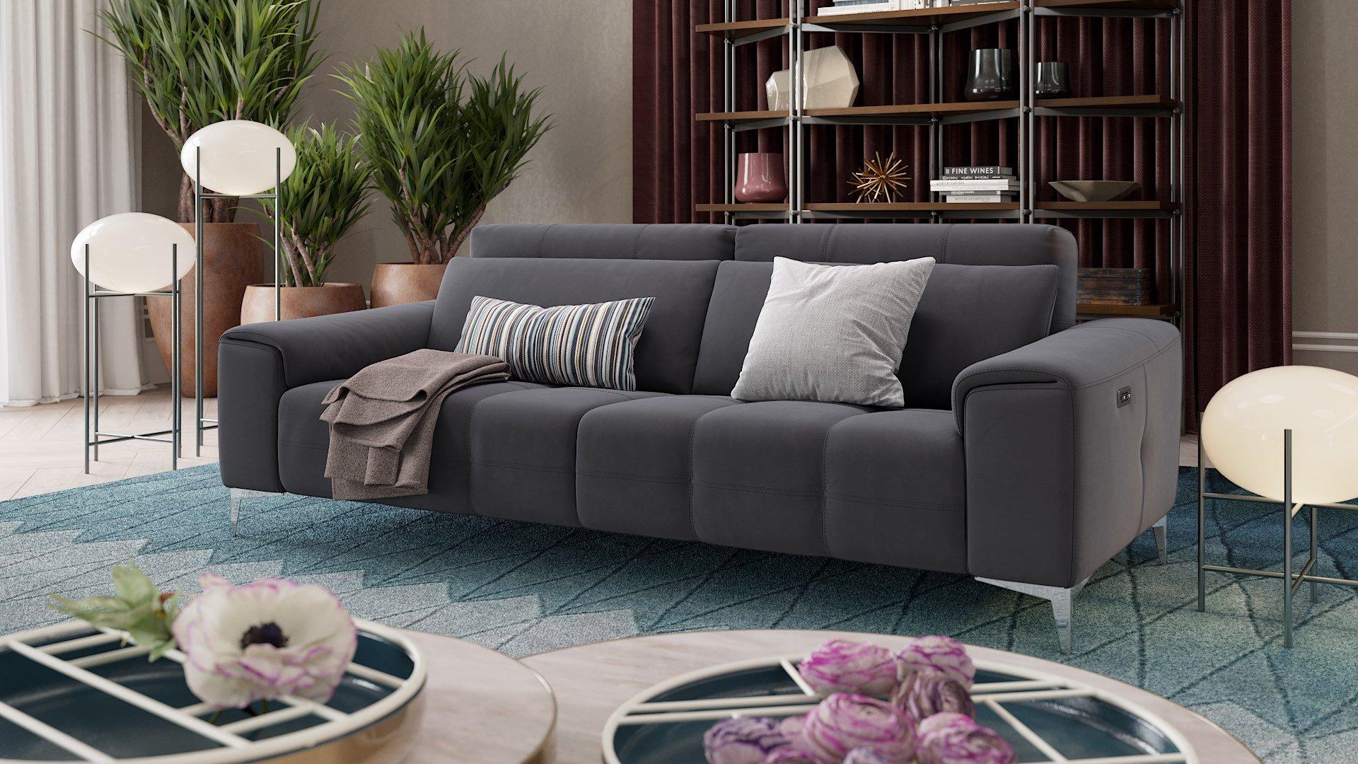 Stoff 3-Sitzer Sofa SALENTO