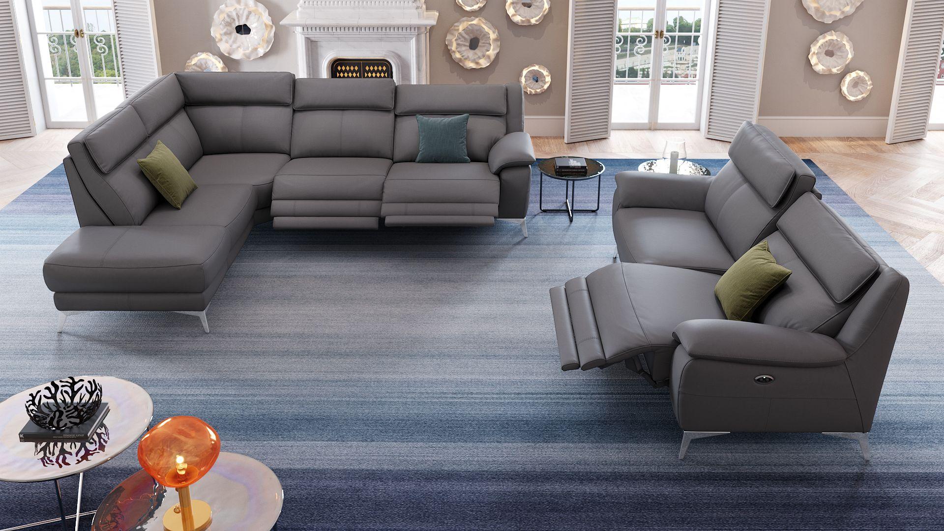 Leder 3-Sitzer Sofa ALIANO