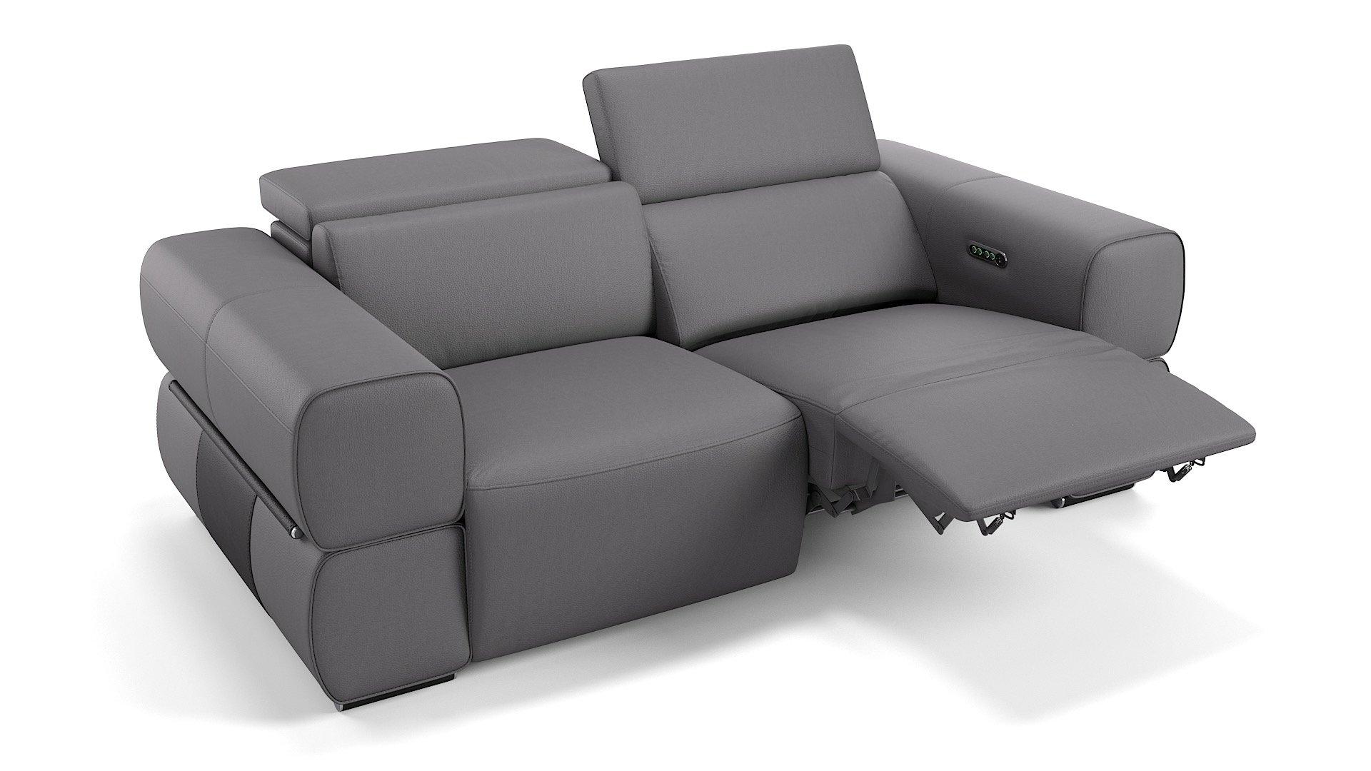 Leder 2-Sitzer Sofa MONACO