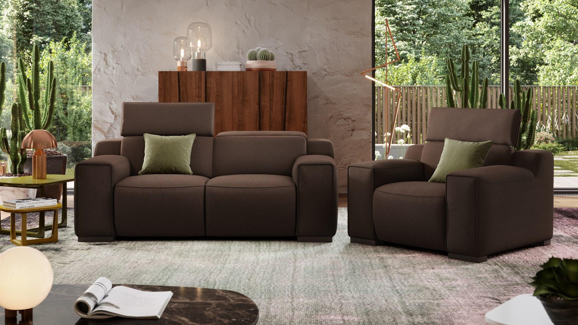 Stoff 2-Sitzer Sofa LORETO